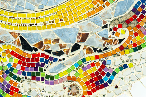 Art mosaic glass on the wall - 105889309