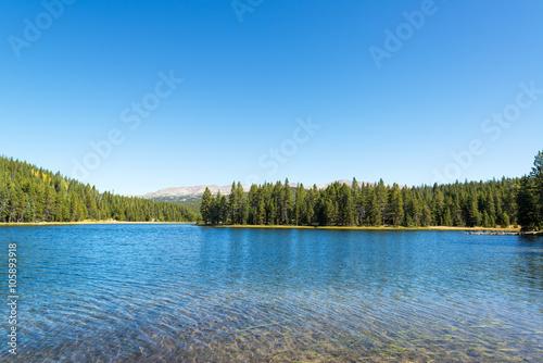 Aluminium Zomer View of West Tensleep Lake in Wyoming