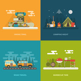 Camping Outdoor Activity Concept Backgrounds