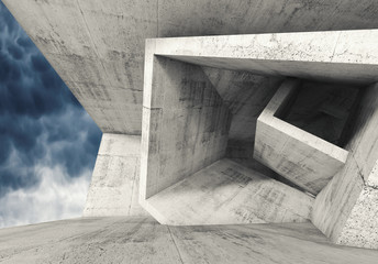 Concrete room with cubic structures 3 d © eugenesergeev