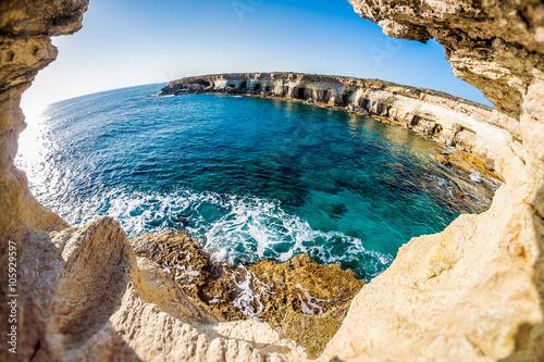 Foto op Plexiglas Cyprus Sea caves near Cape Greko. Mediterranean Sea. Cyprus