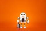 Business Robot. Technology concept. Contains clipping path