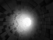 Abstract Tunnel Dark 3d Background
