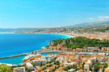 Panoramic view of Nice, Mediterranean Sea, France