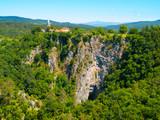Deep gorge at Skocjan Caves in Slovenia