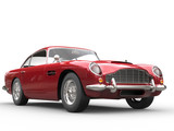 Fototapety Cool Red Vintage Car - Beauty Studio Shot