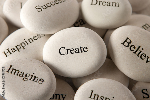 Inspirational stones - Create Poster