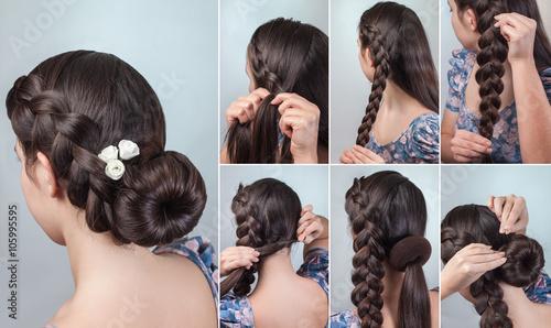 braided bun updo tutorial © alter_photo