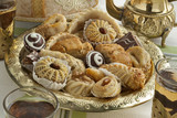 Traditional Moroccan cookies with tea