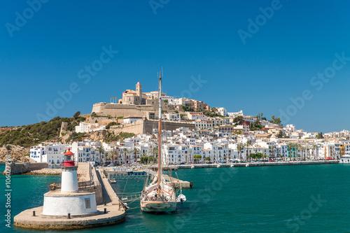 Zdjęcia na płótnie, fototapety, obrazy : Sunset over Ibiza Port, Spain