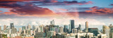 Fototapeta Magnificence of Melbourne skyline. City panoramic view at sunset
