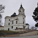 Pilgrimage Church of Virgin Mary from Jan Blazej Santini, village Krtiny, South Moravia region, Czech Republic