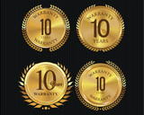 10 years warranty golden labels collection