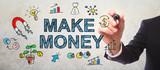 Businessman drawing Make Money concept