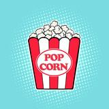 Popcorn  movies pop art retro comic style
