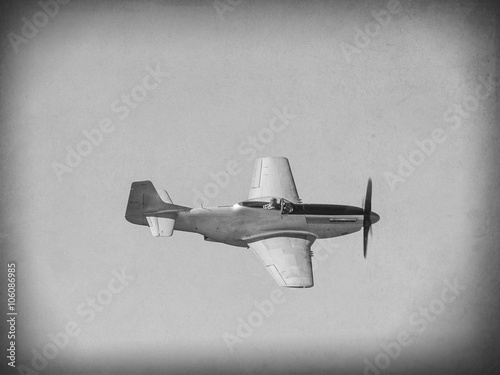 'Vintage Style' image of World of American War 2 fighter aircraft Poster