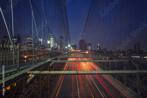 Foto op Plexiglas Brooklyn Bridge brooklyn bridge NY by night