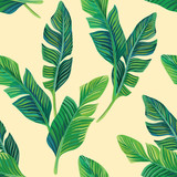 banana leaves seamless background
