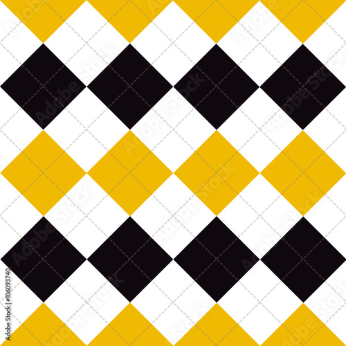 Lines Dots Yellow Black White Diamond Background Vector Illustration - 106093740