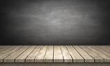 Fototapety blackboard / wood table