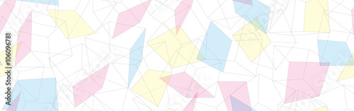 3D geometric background. Seamless pattern. Vector.3D幾何学パターン - 106096781