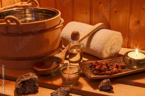 Zdjęcia na płótnie, fototapety, obrazy : Wellness und Spa in der Sauna