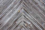 faded wooden slatted door