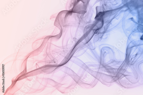 pastel rose quartz color smoke on white  Poster