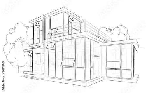 Gamesageddon architektur skizze zeichnung haus lizenzfreie fotos vektoren und videos kaufen - Architektur skizzen zeichnen ...