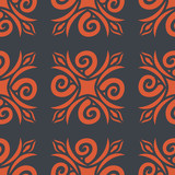 Georgian seamless pattern. Traditional national pattern of Georg