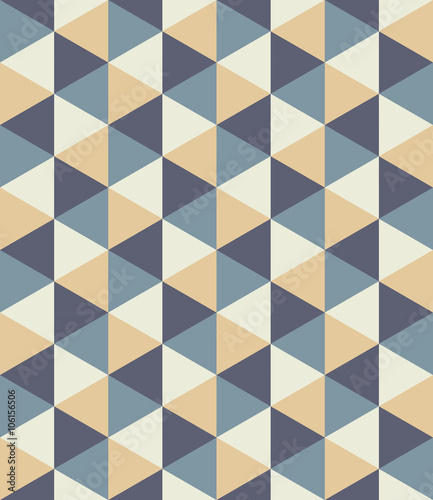 Vector modern seamless colorful geometry triangle pattern, color abstract geometric background, pillow multicolored print, retro texture, hipster fashion design - 106156506