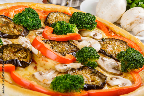 Fototapeta Pizza with vegetable
