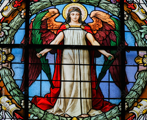 Stained Glass of an Angel - 106166318