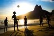 Quadro Locals Playing Soccer at Ipanema Beach, Rio de Janeiro, Brazil