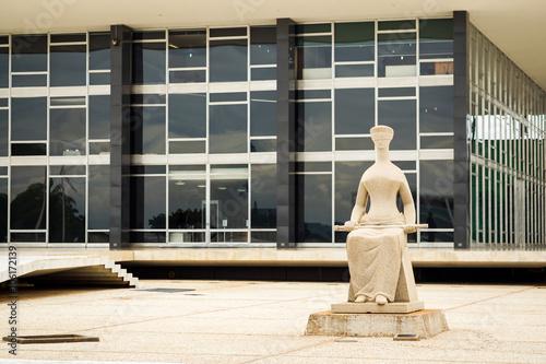 Federal Supreme Court building in Brasilia, Capital of Brazil. Poster