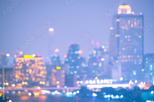 Bangkok city blurry abstarct background - 106183954