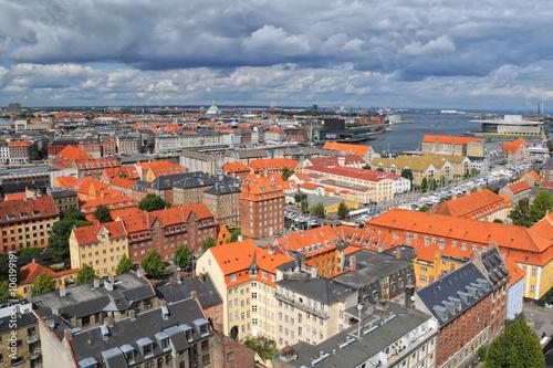 Póster Vista aérea de Copenhague, Dinamarca