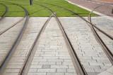 Tram Track in Rotterdam, Holland