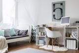 Fototapety Cozy room in new modern stylish loft