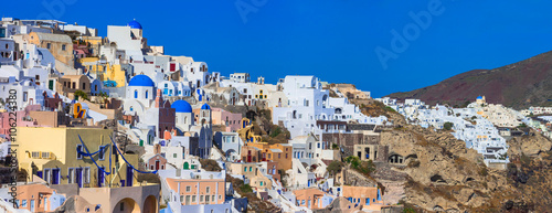 Foto op Canvas panorama of colorful village Oia , Santorini. Greece