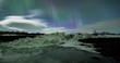 Northern Lights above an iceberg Lagoon