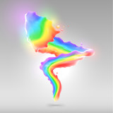 Color rainbow paint splashes for background