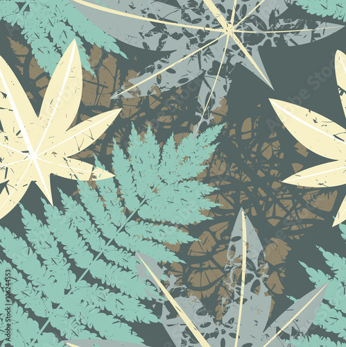 Fototapeta Seamless pattern of tropical forest