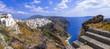 panorama of Santorini - view with caldera