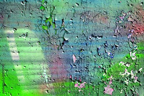 Abstract wallpaper grunge background rusty artistic wall peeling paint. Art abstract wallpaper.