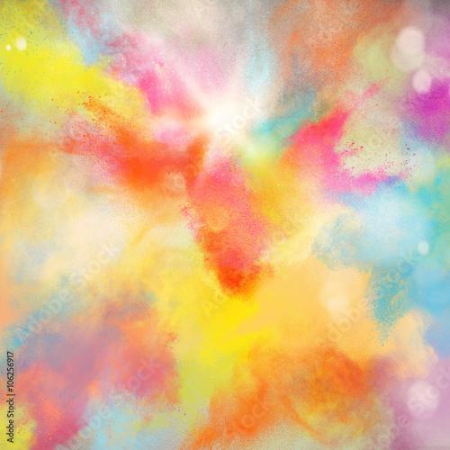 Colourful burst