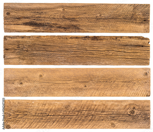 Old planks isolated on white - 106267383