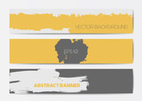 Fototapety Abstract grunge banner templates