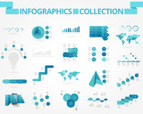 Fototapety Business and social infographics