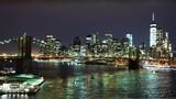 Awesome Manhattan skyline by night  - MANHATTAN, NEW YORK/USA   APRIL 25,  2015 - 106278997
